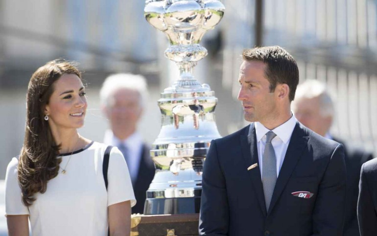 The Duchess of Cambridge and Sir Ben Ainslie ©Lloyd Images